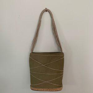 Andre Assous // Green Twine Boho Shoulder Bag